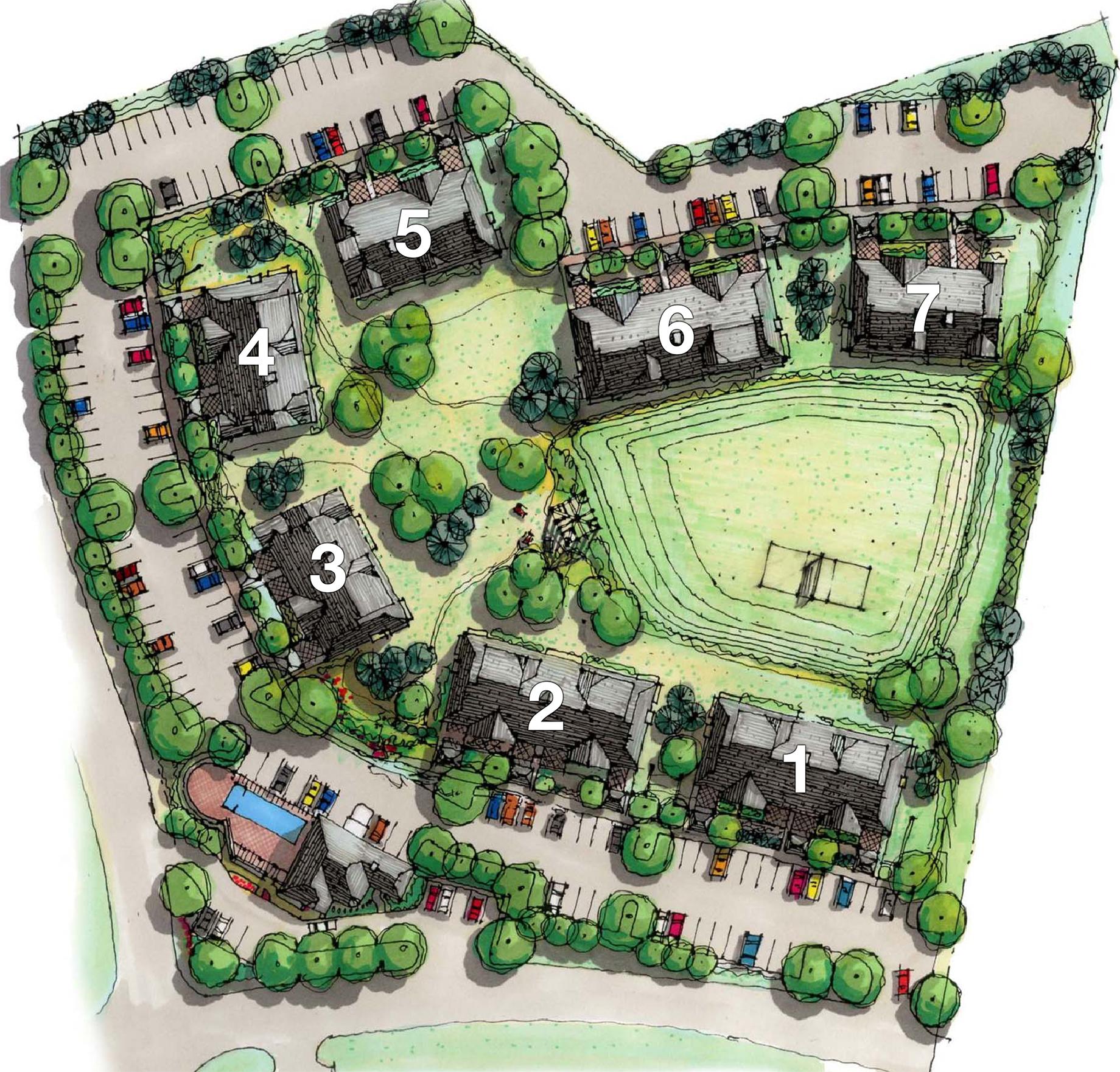 Founders way condos site plan